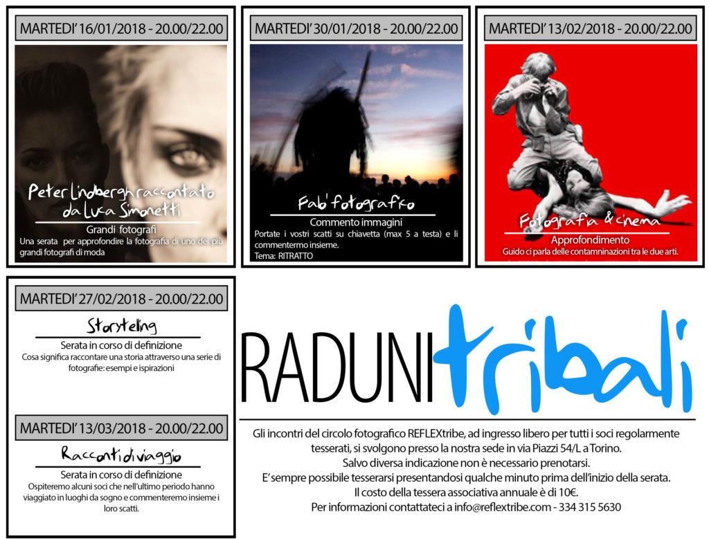 Calendario Raduni Tribali 01-03-2018