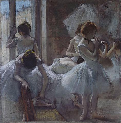 Edgar Degas, ballerine, 1884-85, cc, Museo d'Orsay, Parigi