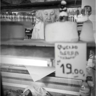 Venditrice di formaggio, Bolhao, Porto 7 Ottobre 2017