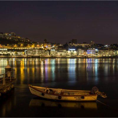 Vila Nova de Gaia di notte, Porto 7 Ottobre 2017