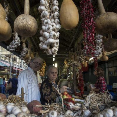 Venditori, Mercado do Bolhao, Porto 7 Ottobre 2017
