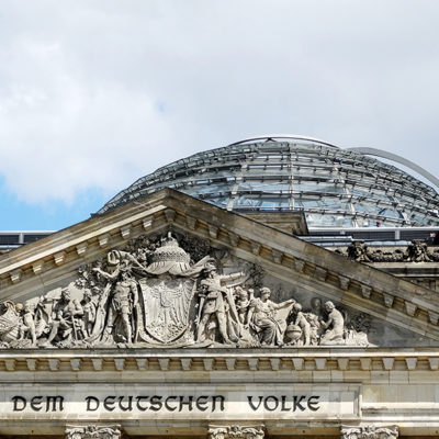 Reichstag  Fotografia tratta da Wikimedia Commons By randreu, CC BY 3.0, https://commons.wikimedia.org/w/index.php?curid=58041264