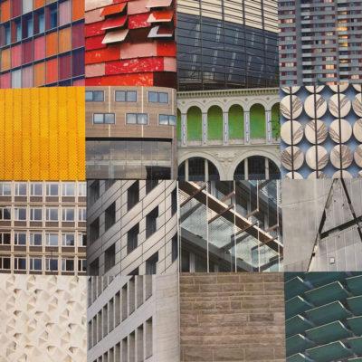Accostamenti di materiali, pattern e colori delle facciate che si incontrano a Berlino