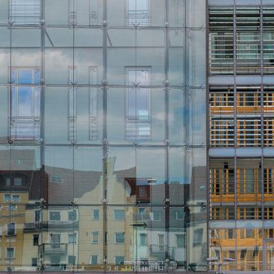 I riflessi nei palazzi di Potsdamer Platz, foto di Irene Audio