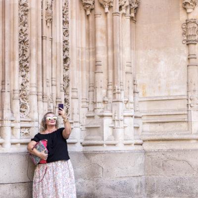 Vacanceras si selfa a Salamanca