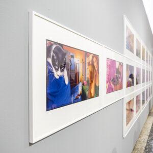 Corridoio. Collage foto in BN ristampate a colori in più fasi
